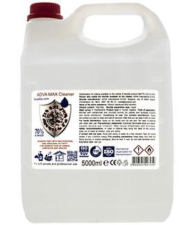 ADVA Max 70% Ethanol Alcohol Hand Sanitising Liquid 5L